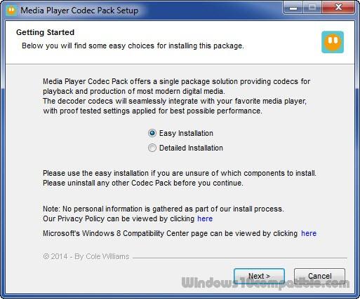 Media Player Codec Pack Plus 4 4 1 Free download